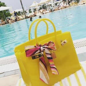 Yellow Beachkin Wateproof Bag Handbag Purse